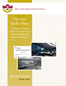 The Fair Hydro Plan: Concerns About Fiscal Transparency, Accountability and Value For Money
