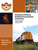 Special Report on Divestment of Ontario Northland Transportation Commission