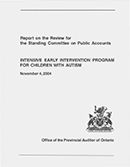 Report on the Review of Intensive Early Intervention Program for Children with Autism