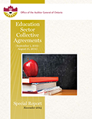 Special Report on Education Sector Collective Agreements