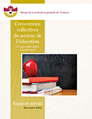 Conventions collectives du secteur de l'éducation