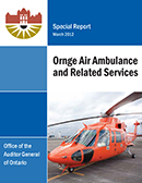 Special Report on Ornge Air Ambulance and Related Services
